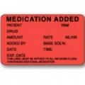LABELS - MEDICATION ADDED - PACK OF 5