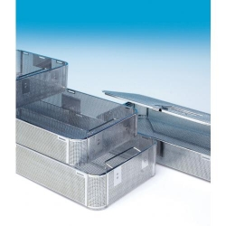 CBM Perforated Sheet Basket Stainless Steel 240 x 240 x 45