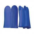 Mitt Silicone Thermal Resistant 37 cm Blue